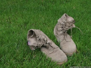 Tired U.S. Army Boots